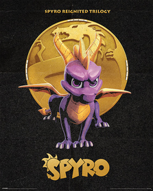 SPYRO GOLDEN DRAGON plakat 40x50cm