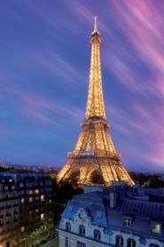 EIFFEL TOWER AT DUSK plakat 61x91cm