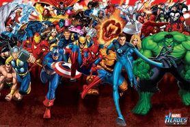 MARVEL HEROES plakat 91x61cm