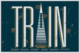 TRAIN plakat 91x61cm