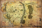 HOBBIT MAPA plakat 91x61cm (1)
