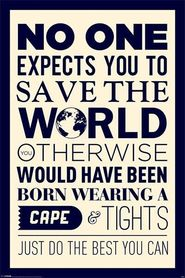 SAVE THE WORLD plakat 61x91cm