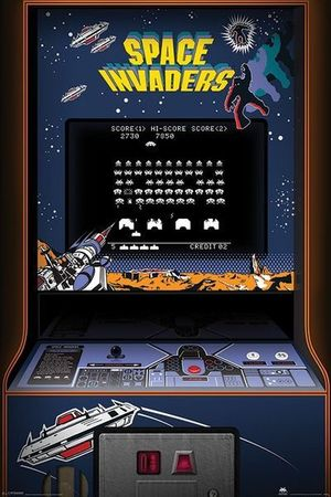 SPACE INVADERS plakat 61x91cm (1)