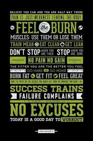 GYM MOTIVATIONAL plakat 61x91cm