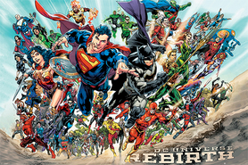 JUSTICE LEAGUE plakat 91x61cm