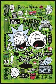 RICK AND MORTY plakat 61x91cm
