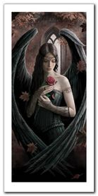 Angel Rose plakat obraz 50x100cm