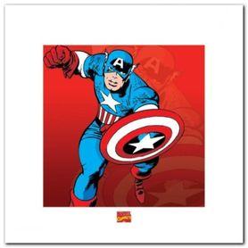 Captain America plakat obraz 40x40cm