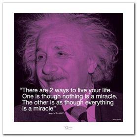 Albert Einstein plakat obraz 40x40cm