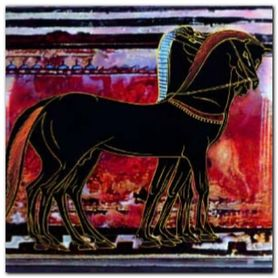 Horses plakat obraz 40x40cm