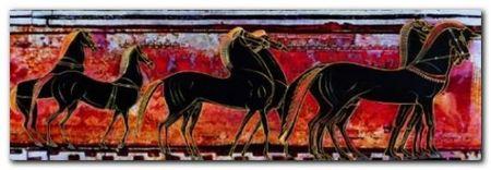 Frieze With Hors plakat obraz 95x33cm (1)