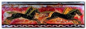 Frieze With Hors plakat obraz 95x33cm