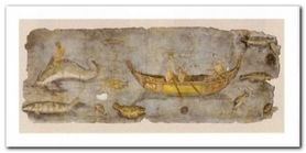 Scena Di Pesca plakat obraz 100x50cm