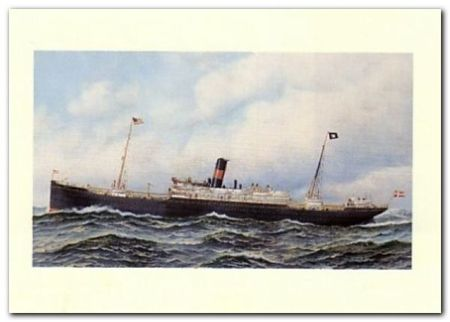 Danish Steamship plakat obraz 70x50cm (1)