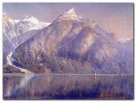 Norwegian Fiord plakat obraz 45x60cm