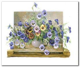 Kwiaty Polne IV plakat obraz 60x50cm