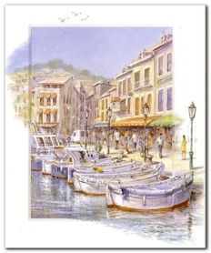 Romantic Canal plakat obraz 50x60cm