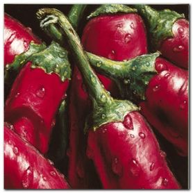 Hot Peppers plakat obraz 50x50cm