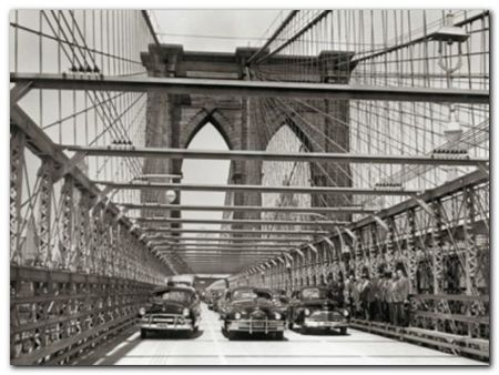 Brooklyn Bridge plakat obraz 80x60cm (1)
