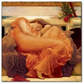 FLAMING JUNE plakat obraz 70x70cm