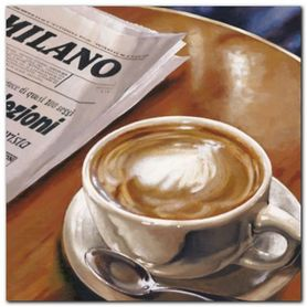 Cappuccino Al Bar plakat obraz 50x50cm