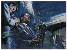 Blue Cool plakat obraz 80x60cm