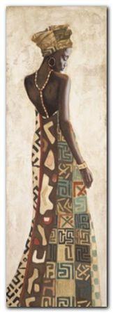 Femme Africaine plakat obraz 48x138cm (1)