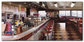 New York Diner plakat obraz 100x50cm