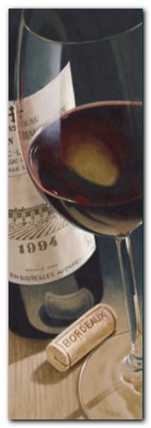 Bordeaux plakat obraz 25x70cm