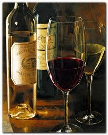 Rouge Et Blanc plakat obraz 40x40cm