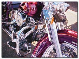 Purple Bike plakat obraz 80x60cm