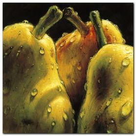 Pears plakat obraz 24x24cm