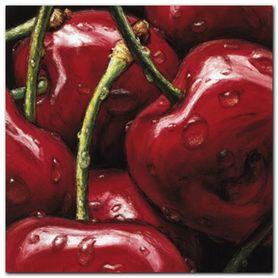 Cherries plakat obraz 24x24cm