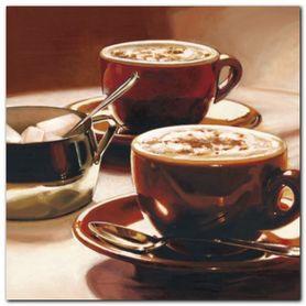 Cappuccino plakat obraz 24x24cm