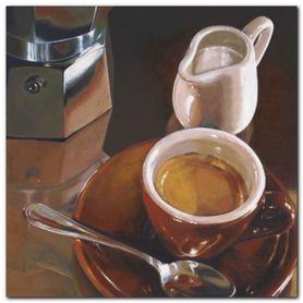 Caffe Del Mattino plakat obraz 24x24cm