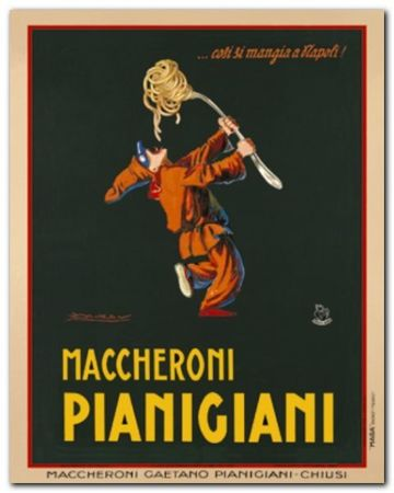 Maccheroni plakat obraz 24x30cm (1)