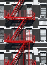 FIRE ESCAPE fototapeta 183x254cm