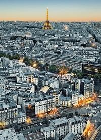 PARIS AERIAL VIEW fototapeta 183x254cm