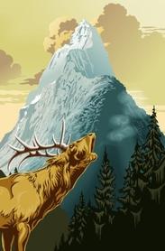 KING OF THE MOUNTAIN fototapeta 115x175cm