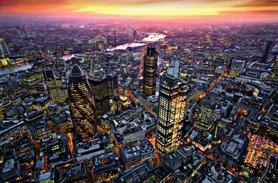 LONDON AERIAL VIEW fototapeta 175x115cm