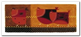 Red Chickens plakat obraz 50x23cm