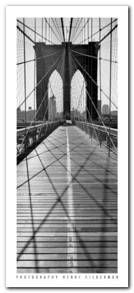 Across Brooklyn Bridge plakat obraz 23x50cm