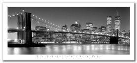 Brooklyn Bridge plakat obraz 50x23cm