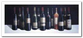 Winescape plakat obraz 50x23cm