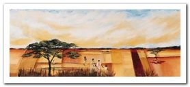 Bhundu Landscape II plakat obraz 50x23cm
