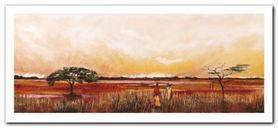 Bhundu Landscape III plakat obraz 50x23cm