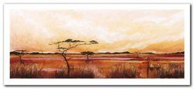 Bhundu Landscape IV plakat obraz 50x23cm