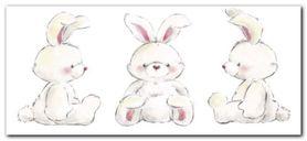 Rabbits plakat obraz 50x23cm