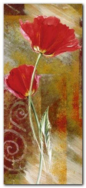 Two Tulips plakat obraz 23x50cm