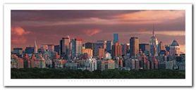New York Skyline plakat obraz 50x23cm